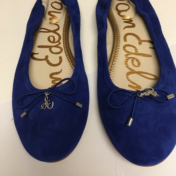 f2e7adc1d5445a Sam Edelman Blue Suede Leather Ballet Flats. M 5abb972c9d20f08e997149d6